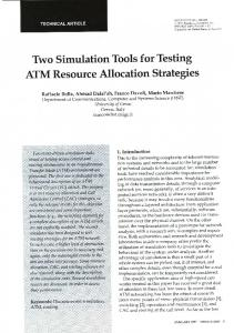 Two Simulation Tools for Testing ATM Resource Allocation Strategies