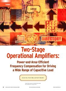 Two-Stage Operational Amplifiers - University of Macau