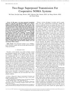 Two-Stage Superposed Transmission For Cooperative ... - IEEE Xplore