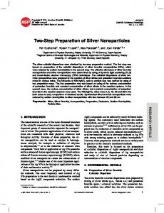 Two-Step Preparation of Silver Nanoparticles