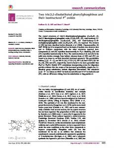 Two tris(3,5-disubstituted phenyl)phosphines and their ... - IUCr Journals