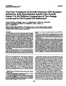 Two-Year Treatment of Growth Hormone (GH) Receptor Deficiency ...