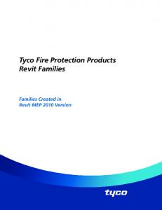 Tyco Fire Protection Products Revit Families - Tyco Fire Products