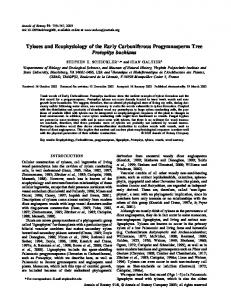 Tyloses and Ecophysiology of the Early Carboniferous ...