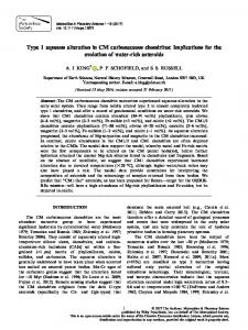 Type 1 aqueous alteration in CM carbonaceous ... - Wiley Online Library