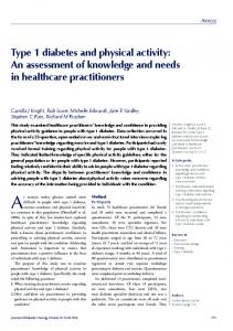 Type 1 diabetes and physical activity - Diabetes Research Unit Cymru