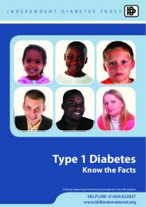 Type 1 Diabetes - Insulin Dependent Diabetes Trust