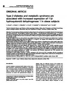 Type 2 diabetes and metabolic syndrome are associated with ...