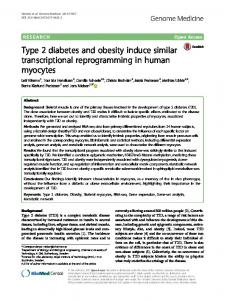 Type 2 diabetes and obesity induce similar ... - Genome Medicine
