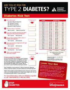 type 2 diabetes risk test