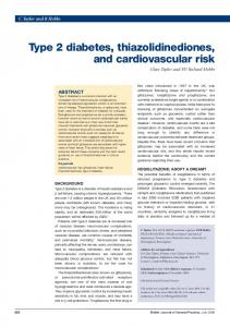 Type 2 diabetes, thiazolidinediones, and cardiovascular risk