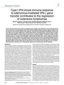 Type I IFN innate immune response to adenovirus ... - Semantic Scholar