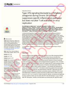 Type I IFN signaling blockade by a PASylated antagonist ... - PLOS