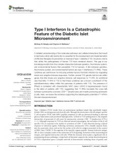 Type I Interferon Is a Catastrophic Feature of the