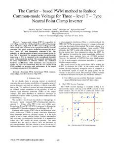 Type Neutral Point Clamp Inverter - IEEE Xplore