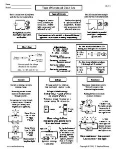 Worksheet Types Of Circuits And Ohms Law Worksheet Answers solutions cstephenmurray mafiadoc com types of circuits and ohms law cstephenmurray