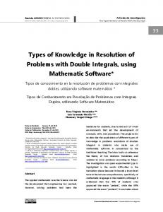 Types of Knowledge in Resolution of Problems with Double Integrals