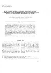 typhimurium isolated from children with enteric processes in ... - RI UFBA