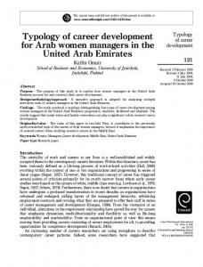 Typology of career development for Arab women ... - IngentaConnect