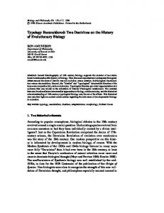 Typology Reconsidered: Two Doctrines on the History of Evolutionary