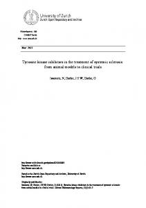 Tyrosine kinase inhibitors in the treatment of systemic sclerosis: from ...
