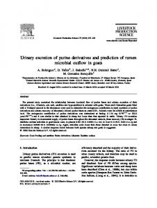 U rinary excretion of purine derivatives and prediction of rumen ...