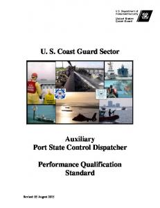 U. S. Coast Guard Sector Auxiliary Port State Control Dispatcher ...