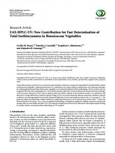 UAE-HPLC-UV: New Contribution for Fast Determination of Total ...