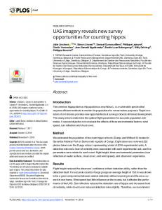 UAS imagery reveals new survey opportunities for counting ... - PLOS