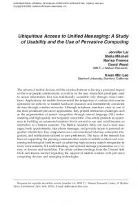 Ubiquitous Access to Unified Messaging: A Study