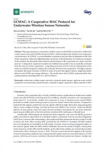 UCMAC: A Cooperative MAC Protocol for Underwater Wireless ... - MDPI