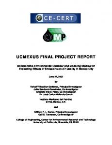 ucmexus final project report ucmexus final project report - University of ...