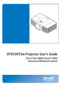 UF55 and UF55w Projector User's Guide