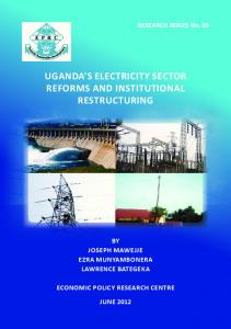 uganda's electricity sector reforms and institutional ... - AgEcon Search
