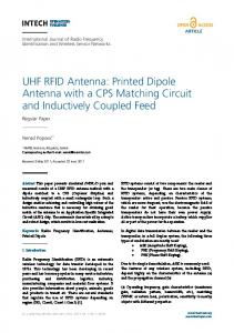UHF RFID Antenna: Printed Dipole Antenna with a CPS Matching ...