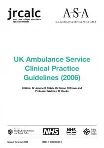 UK Ambulance Service Clinical Practice Guidelines