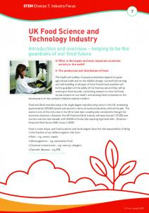 UK Food Science and Technology Industry