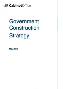UK Government Construction Strategy