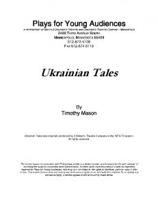 Ukrainian Tales - Plays for Young Audiences