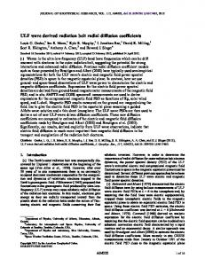 ULF wave derived radiation belt radial diffusion ... - Wiley Online Library