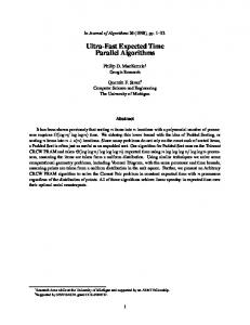 Ultra-Fast Expected Time Parallel Algorithms - EECS @ Michigan