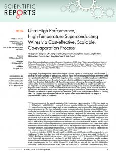 Ultra-High Performance, High-Temperature ... - Semantic Scholar