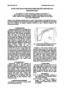Ultra-thin Metal for Indium free Organic Lighting and Photovoltaics