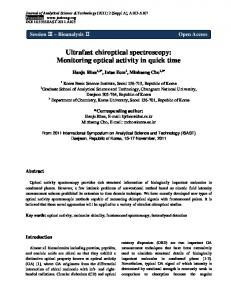 Ultrafast chiroptical spectroscopy