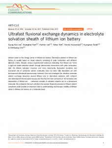 Ultrafast fluxional exchange dynamics in electrolyte solvation ... - Nature