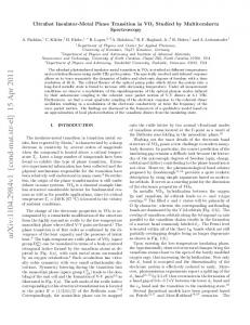 Ultrafast Insulator-Metal Phase Transition in VO2 Studied by ...