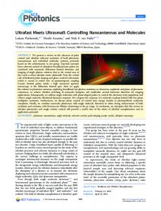Ultrafast Meets Ultrasmall: Controlling ... - ACS Publications