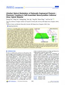 Ultrafast Optical Modulation of Rationally ... - ACS Publications