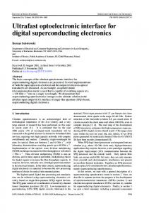 Ultrafast Optoelectronic Interface for Digital ... - Why ECE?