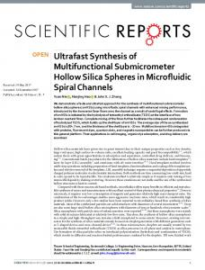 Ultrafast Synthesis of Multifunctional Submicrometer Hollow Silica